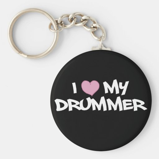I Love My Drummer Key Chain
