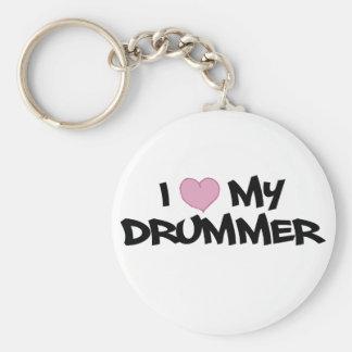 I Love My Drummer Keychain