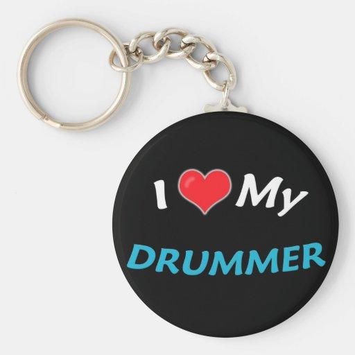I Love My Drummer Keychains