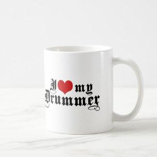 I Love My Drummer Coffee Mugs