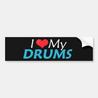 I Love My Drums! Bumper Sticker