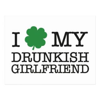 I Love My Drunkish Girlfriend Post Cards