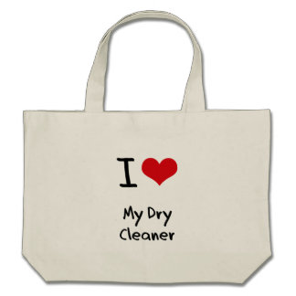 I Love My Dry Cleaner Canvas Bags