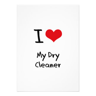I Love My Dry Cleaner Custom Invitation