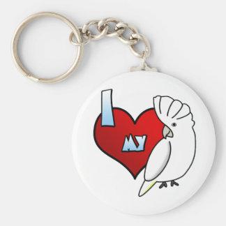 I Love my Ducorps Cockatoo Keychain