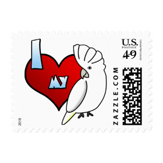 I Love my Ducorps Cockatoo Postage Stamps
