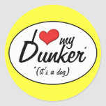 I Love My Dunker (It's a Dog) Stickers