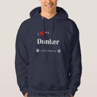 I Love My Dunker (Male Dog) Hoodie