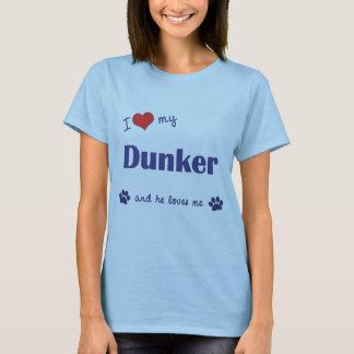 I Love My Dunker (Male Dog) T-Shirt