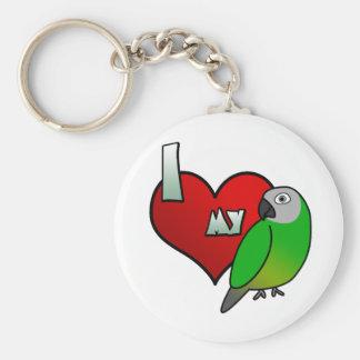 I Love my Dusky Conure Keychain