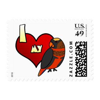 I Love my Dusky Lory Postage Stamps