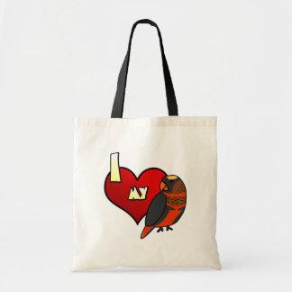 I Love my Dusky Lory Tote Bag