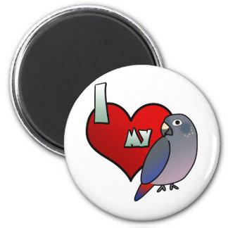 I Love my Dusky Pionus Magnet