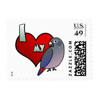 I Love my Dusky Pionus Stamps