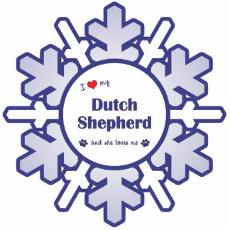 I Love My Dutch Shepherd (Female Dog) Cutout