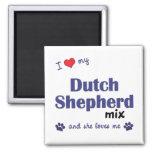 I Love My Dutch Shepherd Mix (Female Dog) Magnet