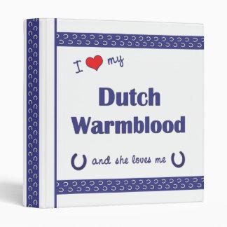 I Love My Dutch Warmblood (Female Horse) Vinyl Binder