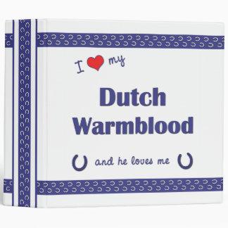 I Love My Dutch Warmblood (Male Horse) Binder