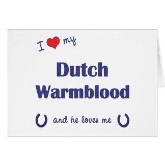 I Love My Dutch Warmblood (Male Horse) Greeting Card