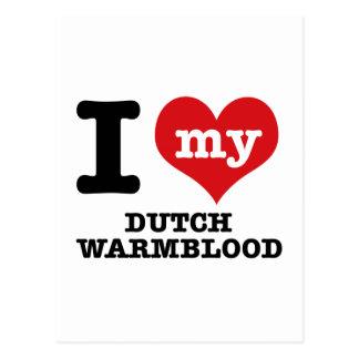 I Love my dutch warmblood Post Cards