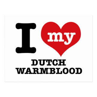 I Love my dutch warmblood Postcard