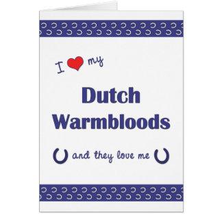 I Love My Dutch Warmbloods (Multiple Horses) Card