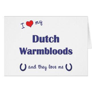 I Love My Dutch Warmbloods (Multiple Horses) Greeting Cards