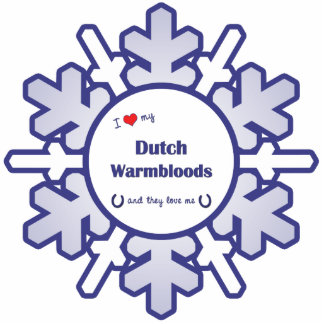 I Love My Dutch Warmbloods (Multiple Horses) Cutout