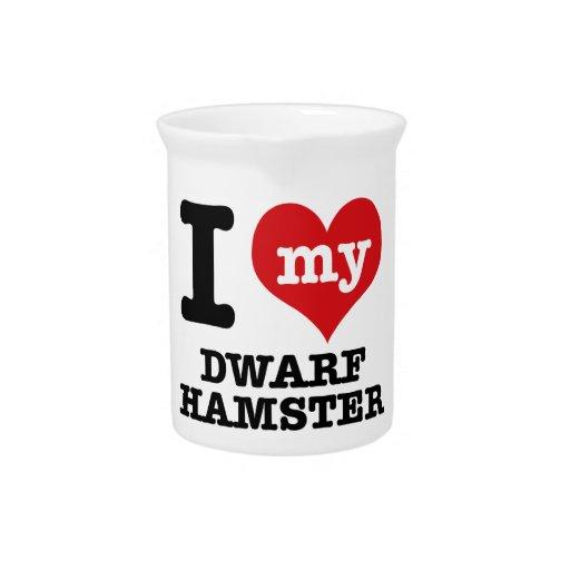 I Love my dwarf hamster Drink Pitchers