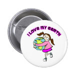 I Love My Earth Buttons