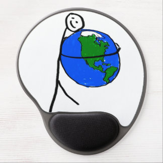 I love my earth children's drawing by healing love gel mouse mats