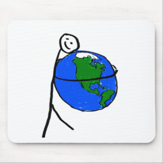 I love my earth children's drawing by healing love mousepads