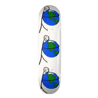 I love my earth children's drawing by healing love skateboard deck