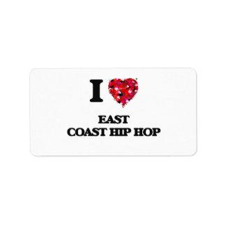 I Love My EAST COAST HIP HOP Address Label