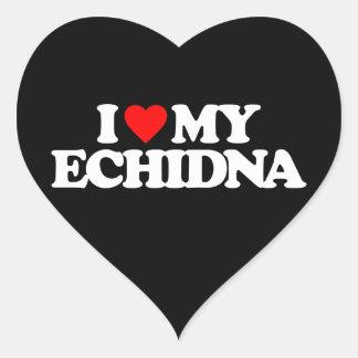 I LOVE MY ECHIDNA HEART STICKER