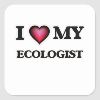 I love my Ecologist Square Sticker