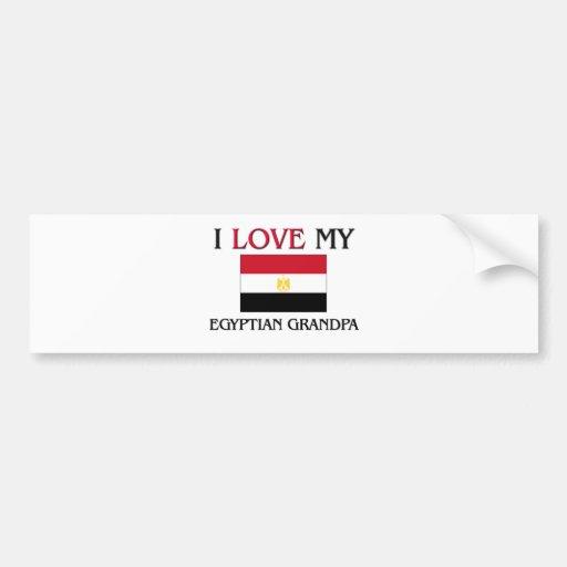 I Love My Egyptian Grandpa Bumper Stickers