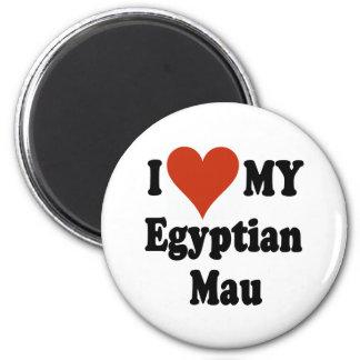 I Love My Egyptian Mau Cat Merchandise Magnets
