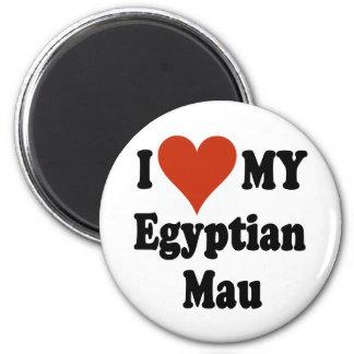 I Love My Egyptian Mau Cat Merchandise Refrigerator Magnets