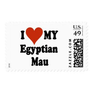 I Love My Egyptian Mau Cat Merchandise Postage Stamp
