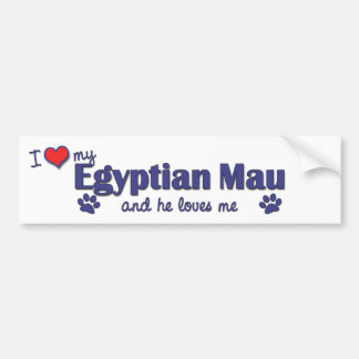 I Love My Egyptian Mau (Male Cat) Bumper Sticker