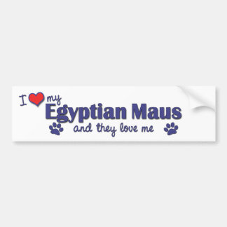 I Love My Egyptian Maus Multiple Cats Bumper Sticker