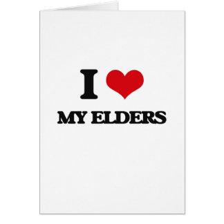 I love My Elders Greeting Card