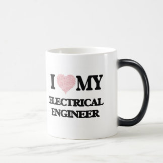 I love my Electrical Engineer (Heart Made from Wor 11 Oz Magic Heat Color-Changing Coffee Mug