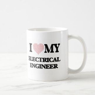 I love my Electrical Engineer (Heart Made from Wor Classic White Coffee Mug