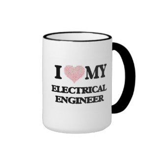 I love my Electrical Engineer (Heart Made from Wor Ringer Coffee Mug