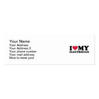 I love my Electrician Mini Business Card
