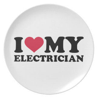 I love my Electrician Plate