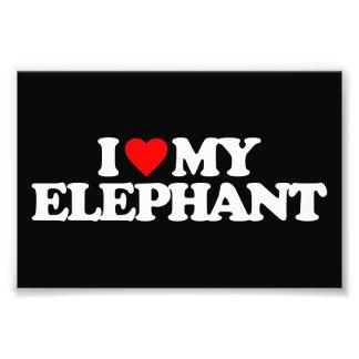 I LOVE MY ELEPHANT PHOTO ART