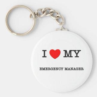 I Love My EMERGENCY MANAGER Keychains